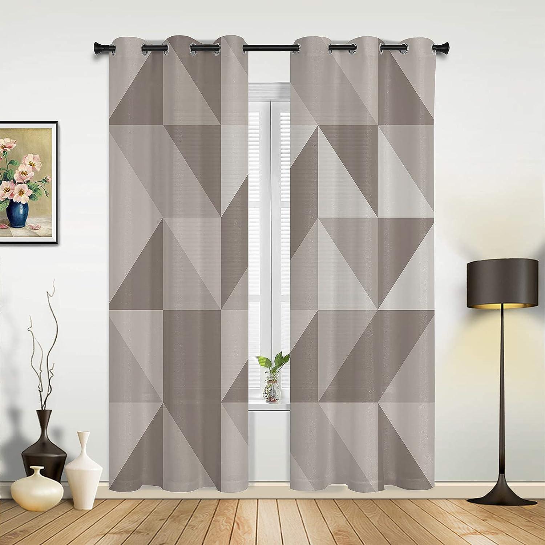 Window Sheer Curtains for Max 88% OFF Bedroom Beige Gradie Brown Living Spring new work Room