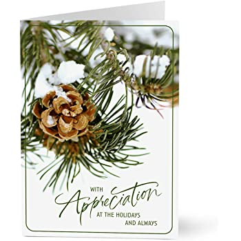Hallmark Business Holiday Cards for Customers (Pinecone Holiday Customer Appreciation) (Pack of 25 Greeting Cards)