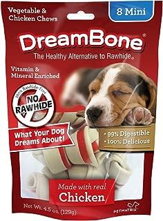 DreamBone Mini Dog Bone Chews With Real Chicken, Rawhide Free Chews for Dogs