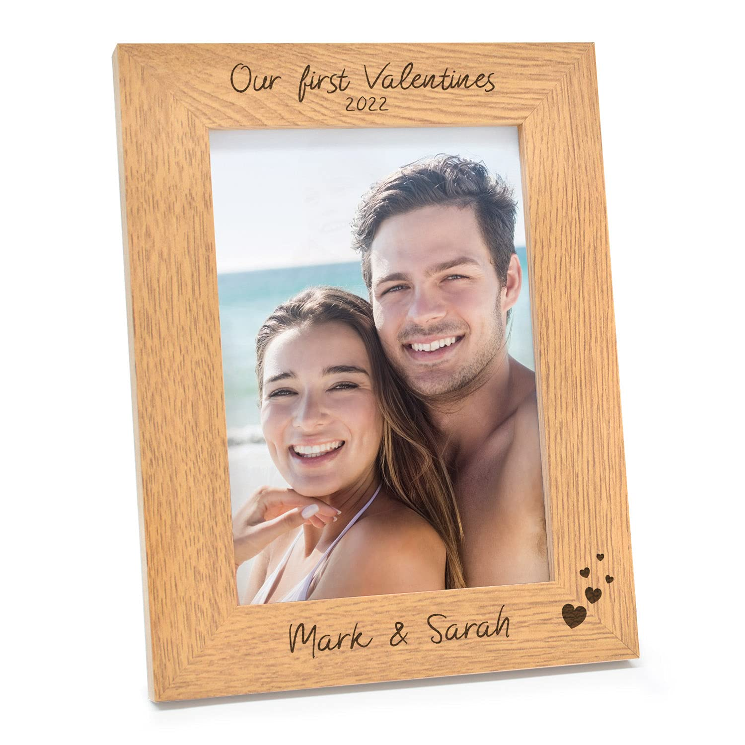 Max 89% OFF Our First Valentines PERSONALISED service Engraved Val Gifts Photo Frame