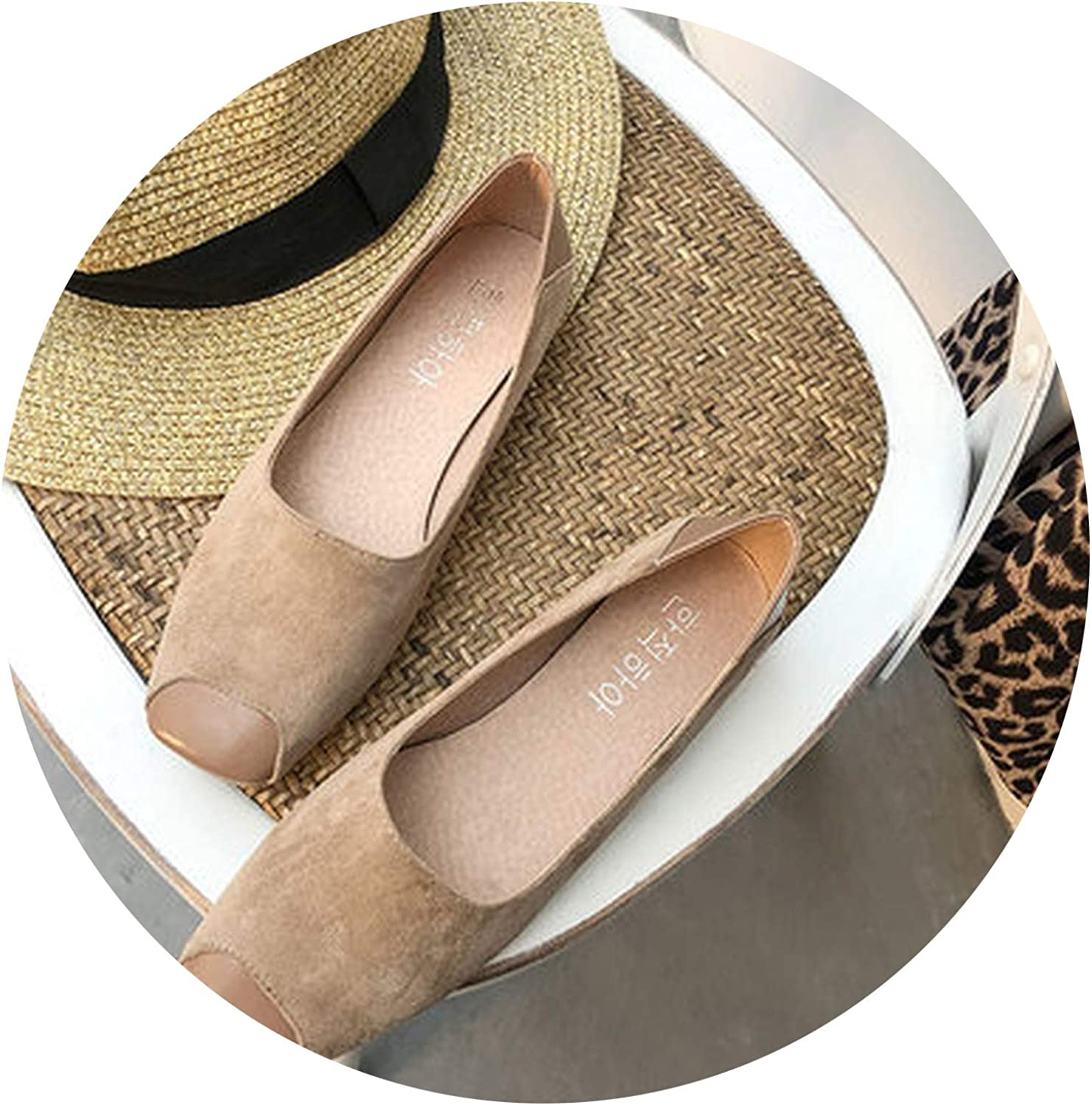 2019 Spring Summer Flats Fashion Square Toe Slip On Casual Boat shoes Women Weekends Comfort Flat Heel shoes