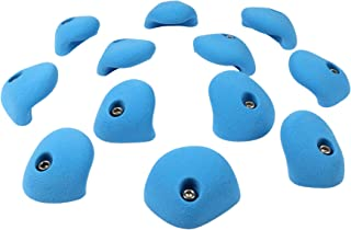 12 Medium Double Incut Roof Jugs | Bolt-on Rock Climbing Holds | Blue