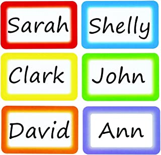 Colorful Name Tags Labels Perforation Line Design Identification School Office Stickers 6 Colors 200 pcs