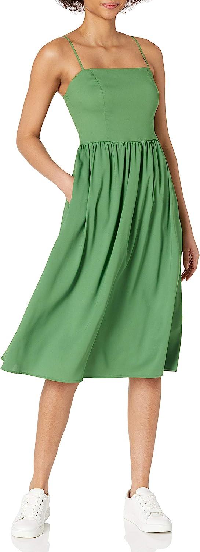 Amazon Brand - Goodthreads Women's Georgette Smock-Back Cami Midi Dress