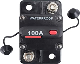 MASO 100 Amp Waterproof Car Circuit Breaker with Manual Reset Suitable for Motor Auto Car Marine Boat Bike Stereo Audio 12V-24V DC