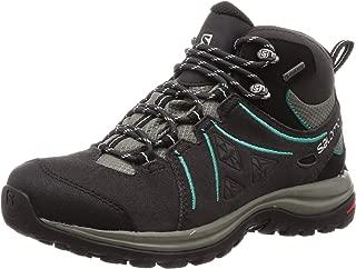Salomon Women's Ellipse 2 Mid Gore-Tex Trekking & Hiking Boots, Phantom/Castor Gray/Aruba Blue, 8.5 US