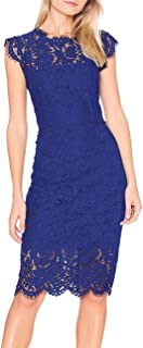cobalt blue lace dress