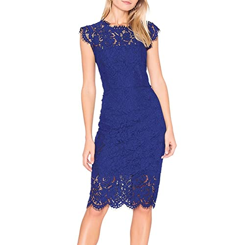56b1fa236 Blue Lace Dress  Amazon.com