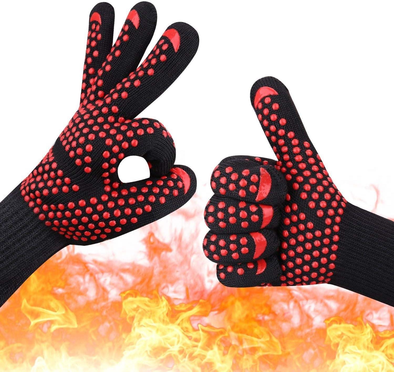 1hand bakewere MITAINES Gants BBQ gants en silicone haute température anti-échaudage 500/800 Degré d'isolation Barbecue Micro-ondes (Color : White) Blue