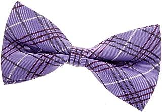 Retreez Tartan Plaid Check Styles Woven Microfiber Pre-tied Bow Tie (5