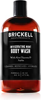 Brickell Men's Invigorating Mint Body Wash for Men, Natural and Organic Deep Cleaning Shower Gel with Aloe, Glycerin, and ...
