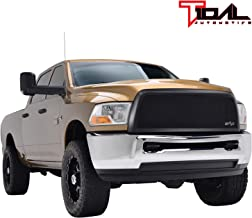 Tidal Front Hood Grille Black Stainless Mesh with ABS Shell Fit 2010-2012 Dodge Ram 2500/3500