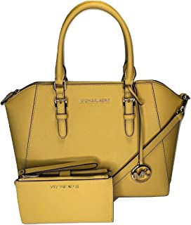 MICHAEL Michael Kors Ciara Large TZ Satchel bundled with Michael Kors Jet Set Travel Double Zip Wallet Wristlet