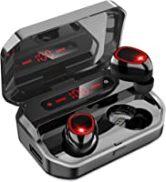 [2021年高级设计] 蓝牙耳机 无线耳机 蓝牙耳机 Hi-Fi 高音质 搭载蓝牙5.0+EDR搭载3D立体声 搭载AAC编解码功能 降噪功能 自动配对 LED剩余量显示 佩戴舒适 左右分离型 音量可调节 IPX7防水 PSE/技巧认证...