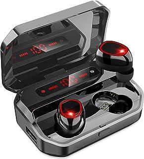 【2021年高級デザイン 】Bluetooth イヤホン ワイヤレスイヤホン ブルートゥースイヤホン Hi-Fi 高音質 最新Bluetooth5.0+EDR搭載 3Dステレオサウンド AACコーデック搭載 ノイズキャンセリング機能 自動ペアリ...