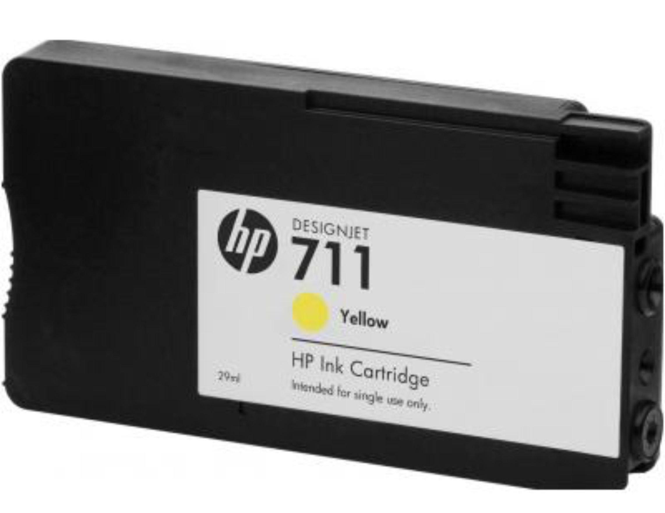 Cartucho de Tinta HP CZ132A Amarillo Compatible Con HP Designjet T520 Designjet T120 CZ132A H711 Pigment 29 ml: Amazon.es: Electrónica
