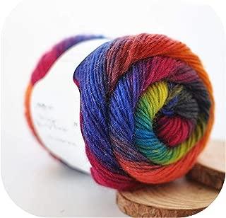50G(180M)/Ball Rainbow Hand Knitting Merino Wool Yarn Fancy Dye Crochet Yarn DIY Scarf Shawl Yarn for Hand Knitting,08