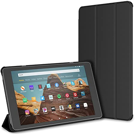 Amazon Com Moko Case For All New Amazon Fire Hd 10 Tablet 7th Generation And 9th Generation 2017 And 2019 Release Slim Folding Stand Cover With Auto Wake Sleep For 10 1 Inch Tablet Black Electronics