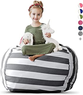 Creative QT Stuffed Animal Storage Bean Bag Chair – Extra Large Stuff 'n Sit..