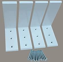 Heavy Duty L Bracket White Steel 6