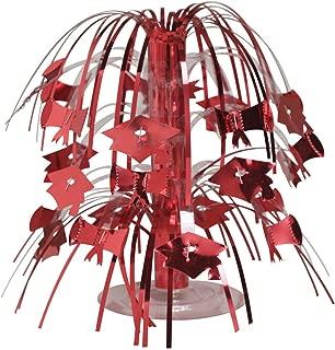 Creative Converting Cascade Graduation Centerpiece, Mini, Red