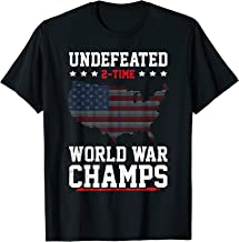 Undefeated 2-Time World War Champs 4th Of July T-Shirt