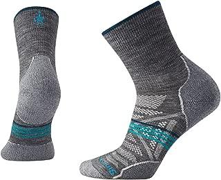 Women's PhD Outdoor Sock- Light Mid Crew Cushioned Merino Wool Performance Sock