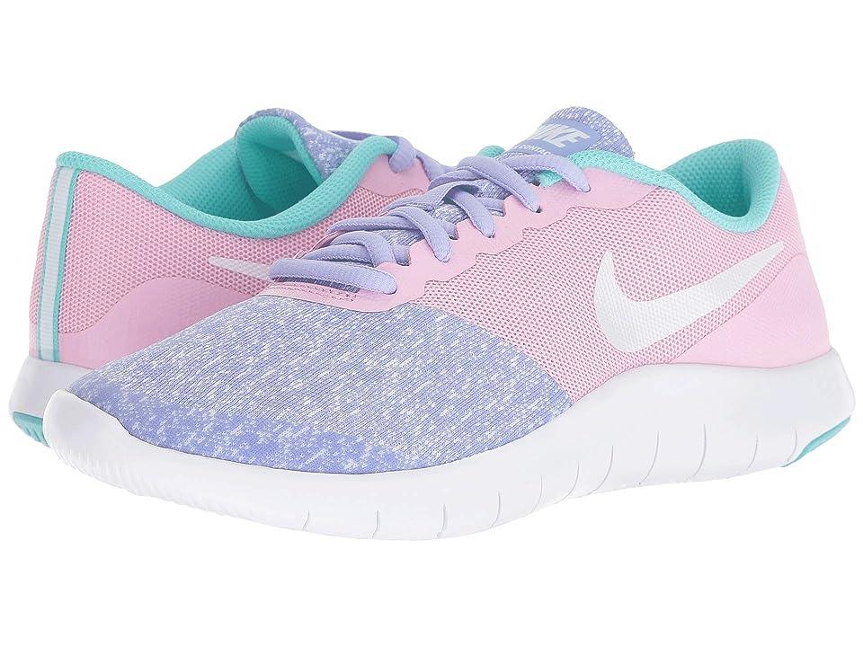 Nike Kids Flex Contact (Big Kid) (Twilight Pulse/White/Light Aqua) Girls Shoes