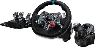 Logitech G29 Driving Force Race Wheel + Logitech G Driving Force Shifter Bundle for PS4 (Renewed)