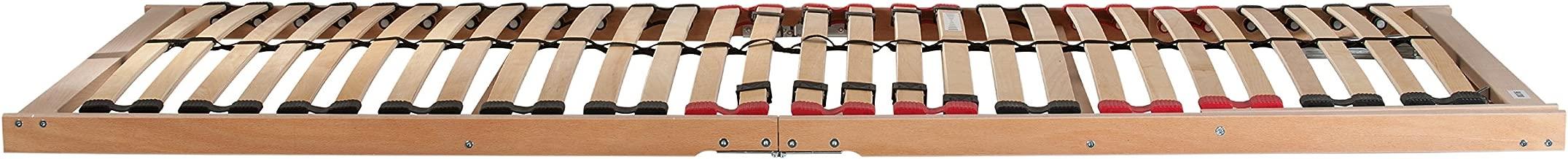 Hansales Rollrost 135x200cm Hochwertiger Extra starker Rollattenrost aus echtem Birkenholz Lattenrollrost Premium FSC Lattenrost unbehandelt 300 kg 25 Leisten