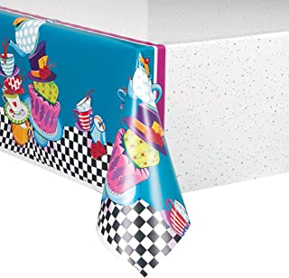 Mad Hatter Tea Party Plastic Tablecloth, 84