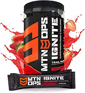 MTN OPS Ignite Trail Packs Supercharged Energy Drink Mix