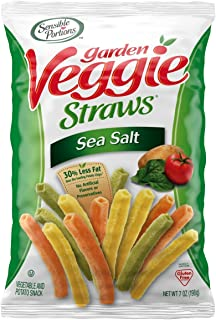Sensible Portions Garden Veggie Straws, Sea Salt, 7 oz. (Pack of 6)