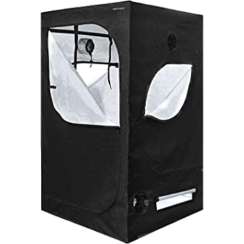 """YINTATECH 48""""x48""""x80"""" Plant Grow Tent, Reflective Mylar 600D Oxford Fabric Growing Room, with Waterproof Floor Tray, for Indoor Gardening Hydroponic Plant Germination Growing"""