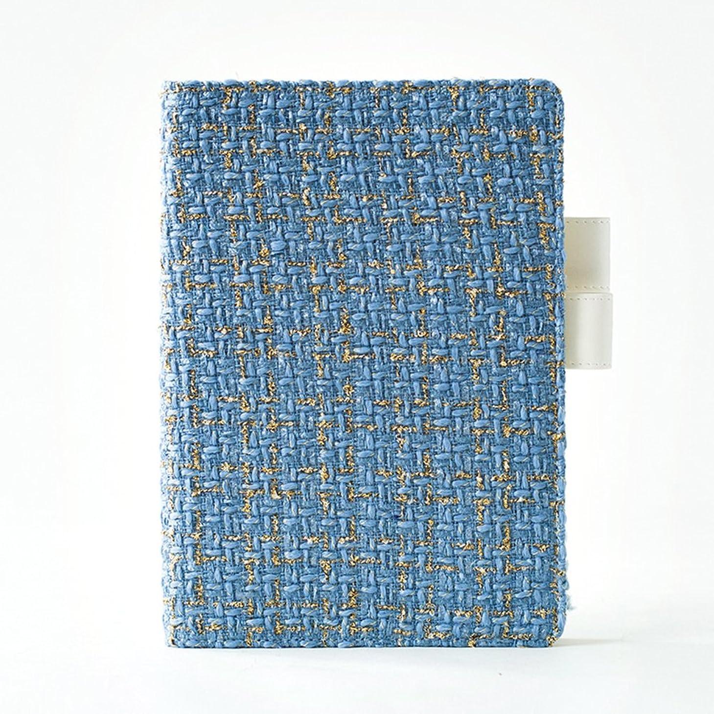 勇気のあるファンブル敬なLiebeye ノートブック クリエイティブ コンシーズクロスカバーノートブック高品質ジャーナル日記帳 A5 A5レイクブルー