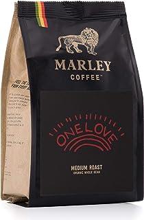 One Love de Marley Coffee, granos de café, orgánico bio, tostado medio, de la familia de Bob Marley, 227 g Café en Grano