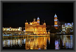 The Artist Religious Golden Temple HD Print Wall Art Framed Painting Without Glass for Living Room, Bedroom, Offices and H...