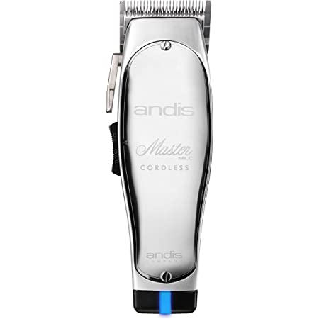 Andis 12470 Professional Master Cordless Lithium Ion Adjustable Blade Hair Clipper, Silver