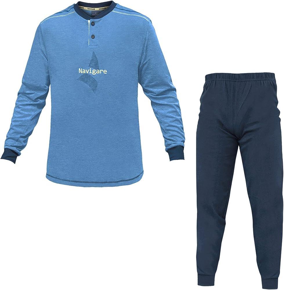 Navigare, pigiama per uomo,in  cotone jersey PigiamaNav140744_0_0