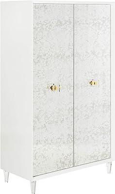 Safavieh Couture Home Arcelia White Acrylic Eglomise 2-shelf Cabinet
