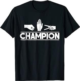Rock Paper Scissors Master Supreme Champion Joke Novelty Tee