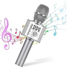 Wireless Bluetooth Karaoke Microphone, 4-in-1 Portable Handheld Karaoke Mic Speaker Machine, Christmas Birthday Home Party...