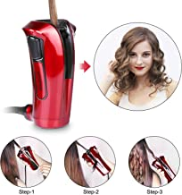 iGutech Automatic hair curler with Tourmaline ceramic heater and LED digital red