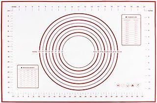 ZHEBEI Tapis de cuisson antiadhésif, pour pâtisserie, gadget de cuisine, pâte à pizza, outil de cuisson 60 x 40 cm