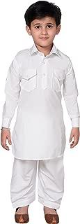 Boys Shirt Collar Pathani Style Kurta Shalwar Kameez Set 937