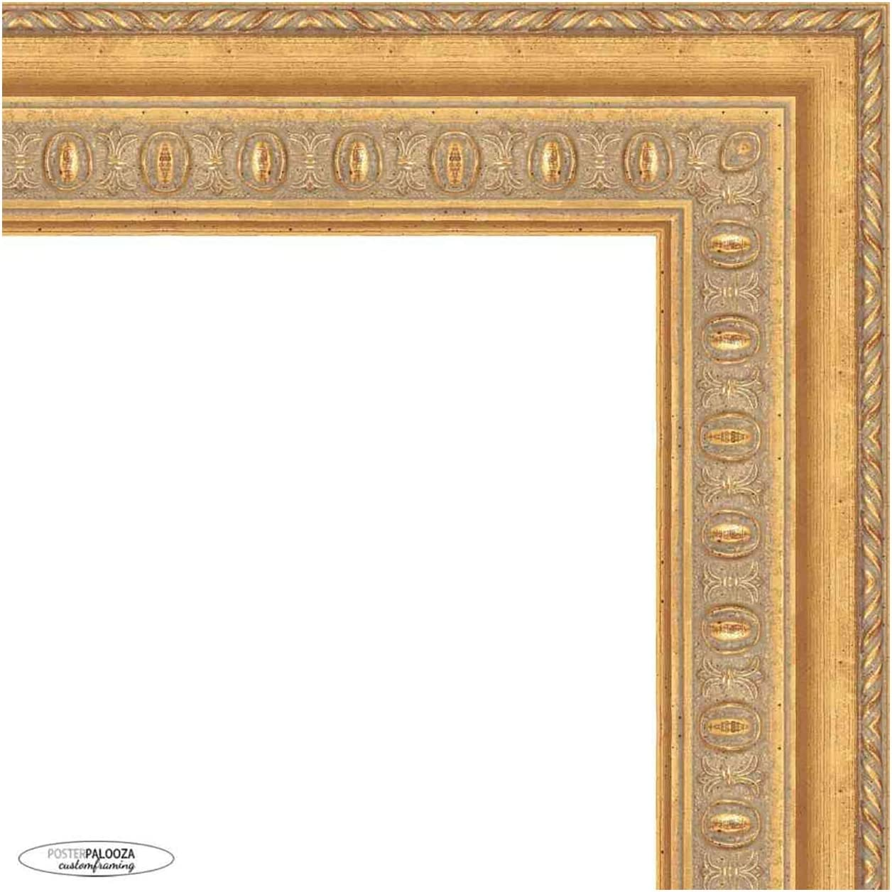 Many popular brands Poster Palooza 32x26 Traditional Gold Picture Regular store Complete Wood Fram