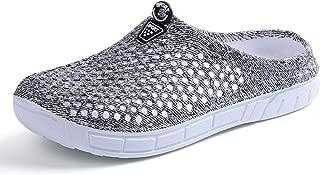 PHILDA Women's Lightweight Mesh Breathable Quick Drying Sandals Slippers Beach Footwear Anti-Slip Garden Clog Shoes