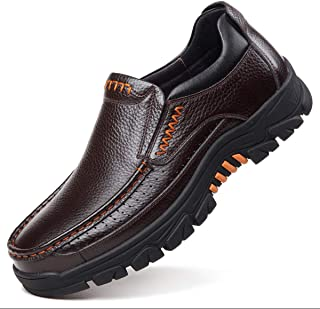 gracosy Mens Loafer Flats Slip On Leather Waterproof Casual Walking Shoes Comfort for Business Work Office Dress Outdoor S...