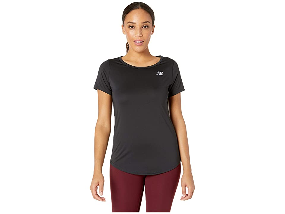 New Balance Accelerate Short Sleeve Top v2 (Black) Women