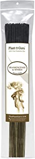 Plant Guru Frankincense and Myrrh Incense Sticks, 185 Grams in Each Bundle 85 to 100, Premium Quality Smooth and Clean, Each Stick is 10.5 Inches Long Burn Time is 45 to 60 Minutes Each.